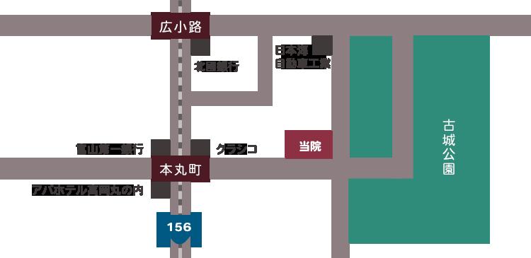 山田歯科医院 近隣図